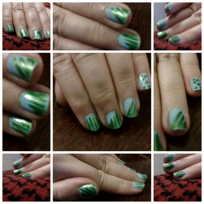 @wolfzuachis Nail Art Nail Polish Nailsart Closeup Nails Green Nailart  Fingers Nailpolish Wolfzuachis Colaj Eyeem Market Collage