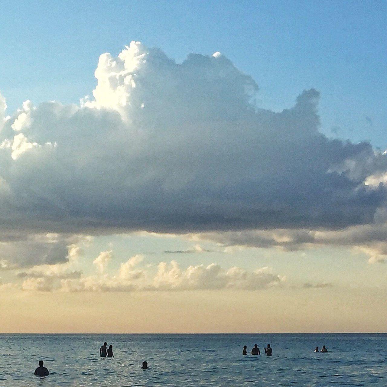 Under a cloud Minimal Minimalist Seascape Minimalobsession EyeEm Best Shots Cuba Varadero Minimallandscape