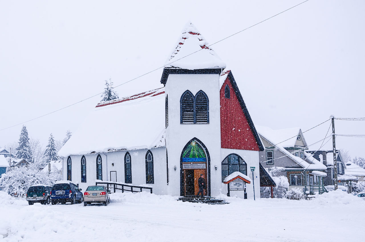Church Cold Temperature Day Mountain Nature No People Outdoors Sky Snow Snowing Winter