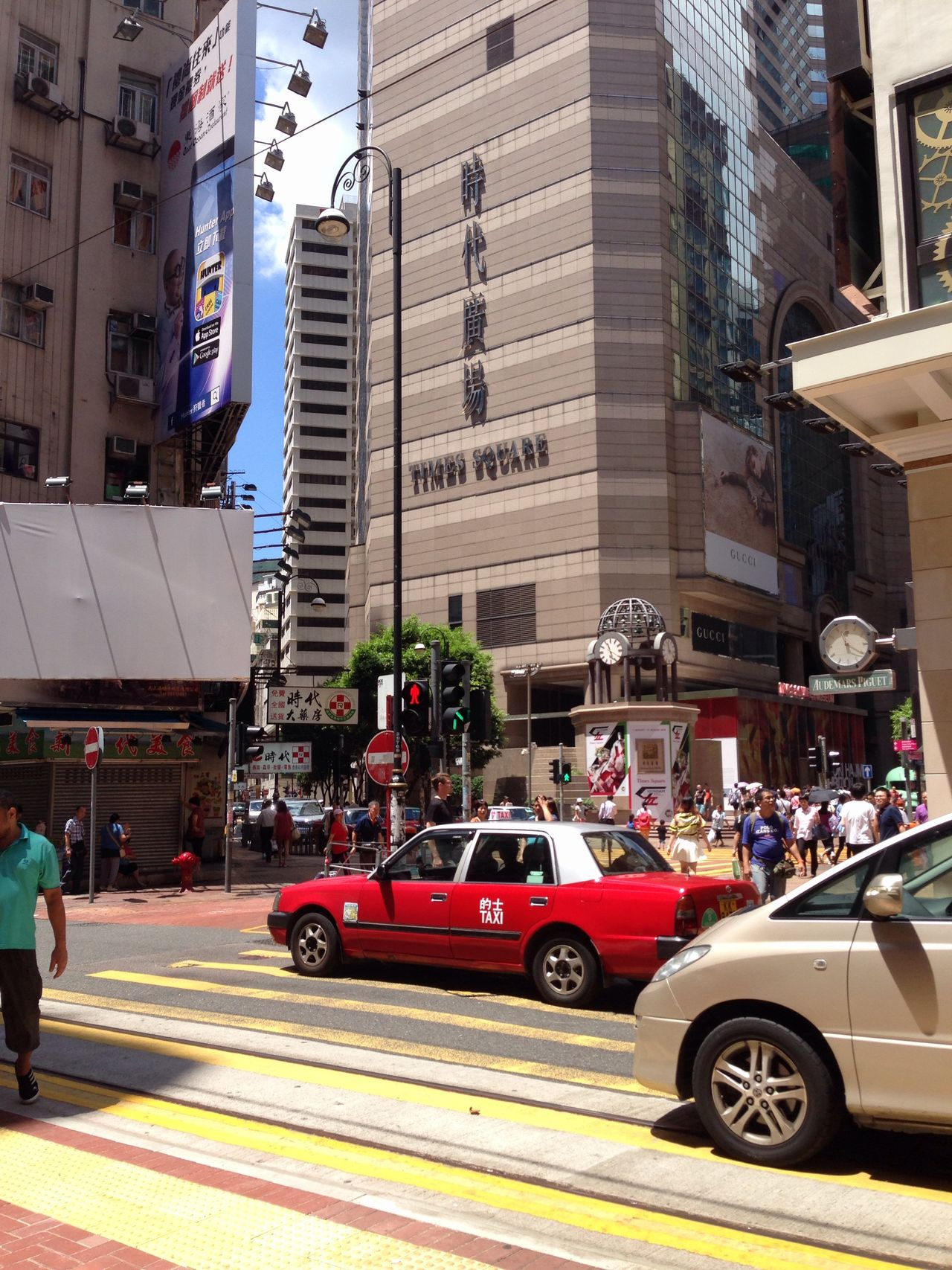 Architecture Building Building Exterior Built Structure City City Life City Street Day Hong Kong HongKong Land Vehicle Lifestyles Mode Of Transport Outdoors Parked Parking Road Stationary Street