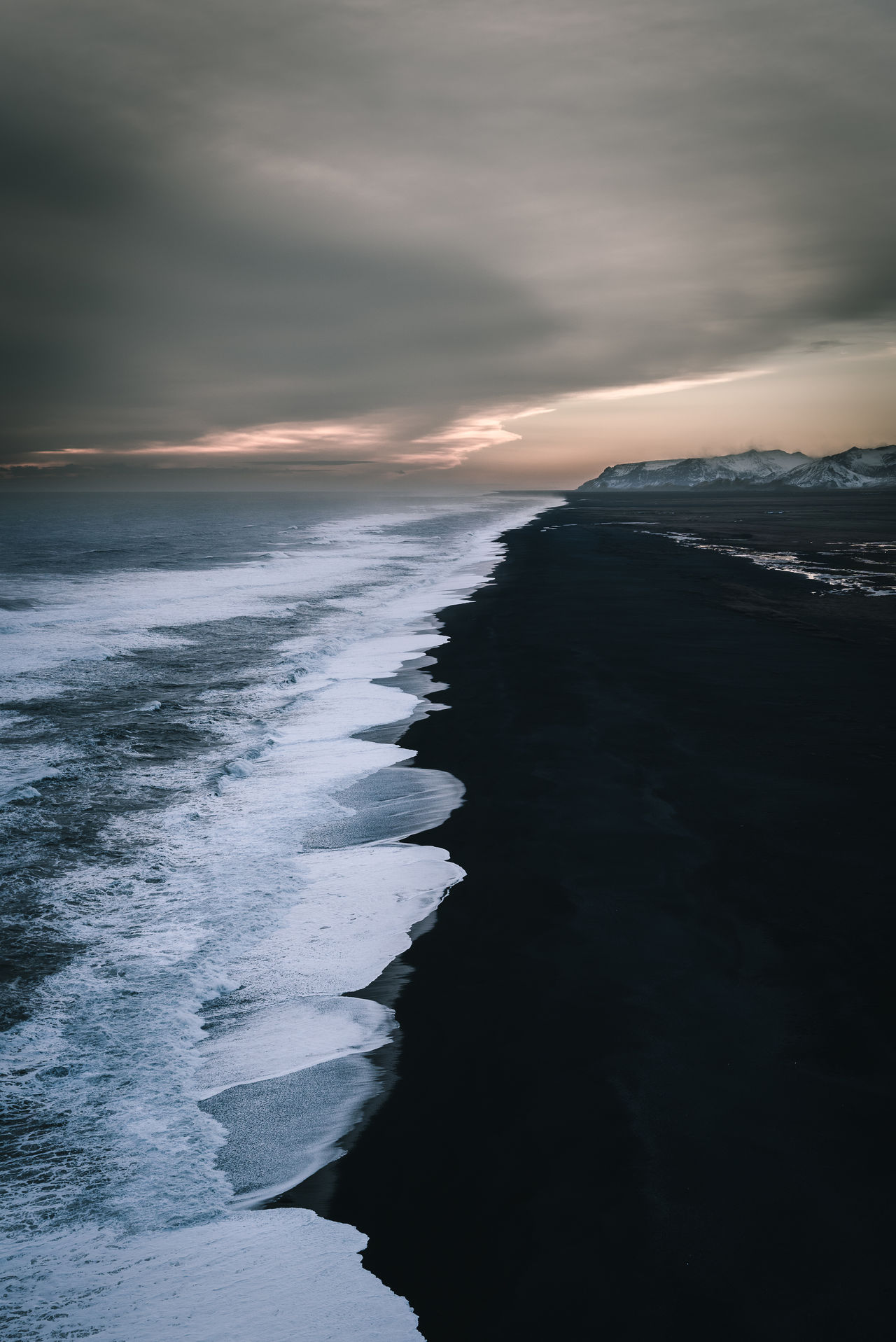 Beach Beautiful Beauty In Nature Check This Out EyeEm Best Shots Iceland Iceland_collection Landscape Landscape_Collection Landscape_photography Moody Moody Sky Natural Beauty Nature Nature_collection Ocean Outdoors Sea Sky Sunset Travel Destinations Vanishing Point Water Wave Wonderful