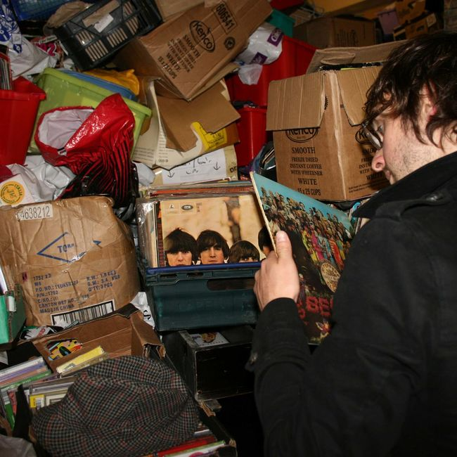 Documenting the iconic ramshackle 2nd hand record store in Nottingham city centre - Rob's Records 2nd Hand Record Store 2nd Hand Records Albums Display Market Stall Music Nottingham Record Store Day Records Shop Store The Beatles