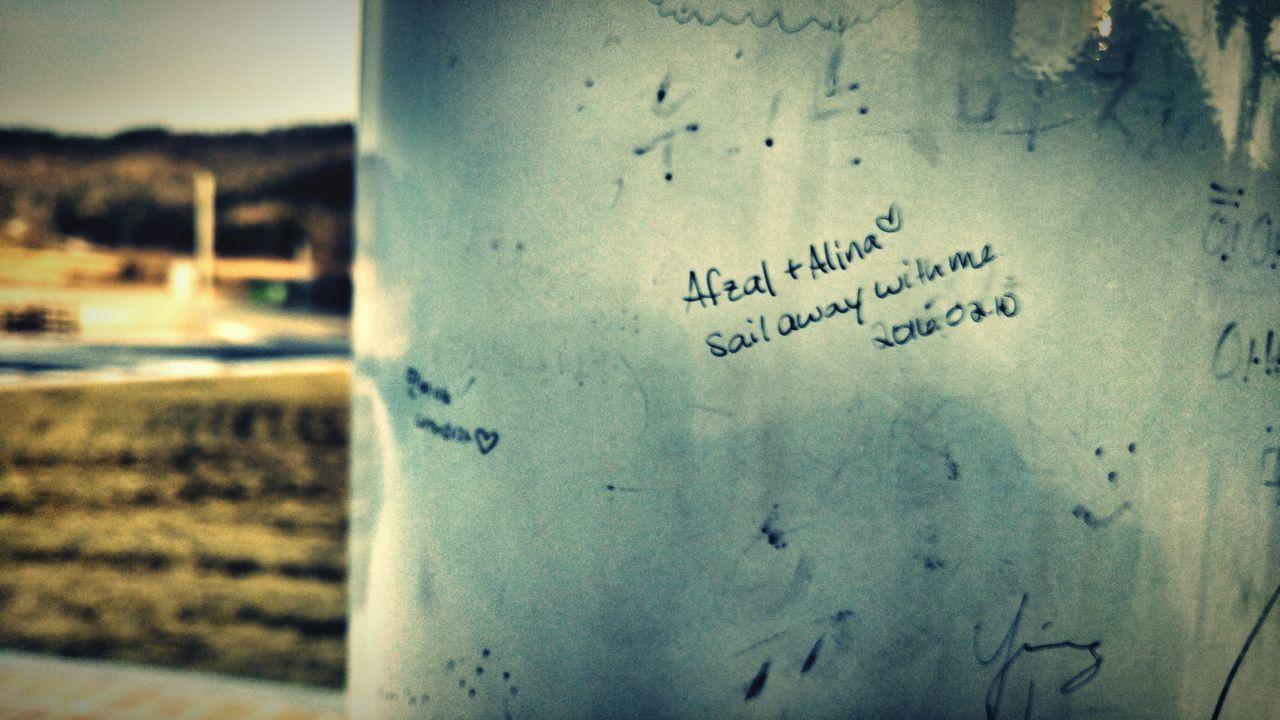 Love Tag Wall Writing Memories Boseong Bus Stop Pastel Power