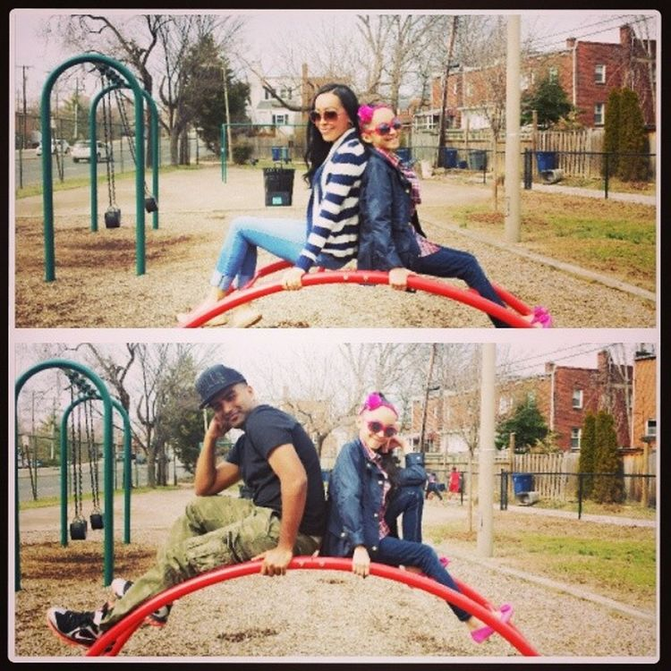 This weather felt like heaven today. I love family time with my two love bugs ⛅ ? ? MyLilFamily Playingatthepark Lovethesetwo Junglegymphotoop