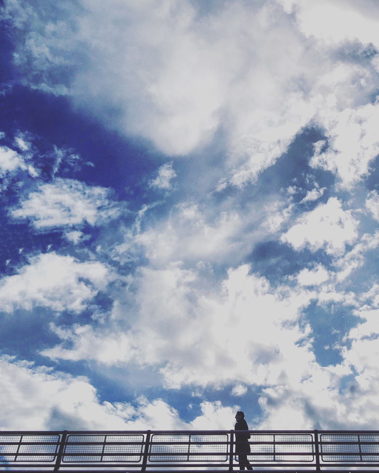 Cloud - Sky Railing Sky Low Angle View Day Outdoors No People Scenics Nature Beauty In Nature