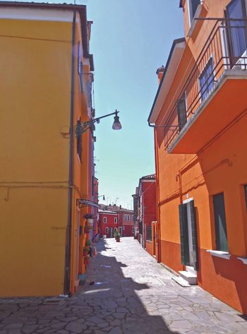 Burano Building Exterior Built Structure Architecture Outdoors No People Buranoano, Italy] Venice, Italy Orange rward Day Sky Murano