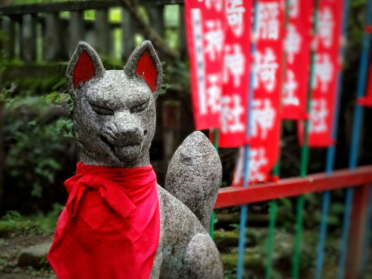 Forest Landscape Asian Culture Nikko Japan Travel Red Kamisama Inarishrine September Faith Japanese Temple