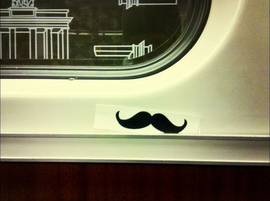 Moustache at U-Bhf Bernauer Straße by gibsy
