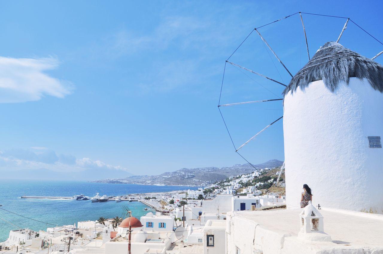 Greece Cyclades Mykonos Windmills Wanderlust