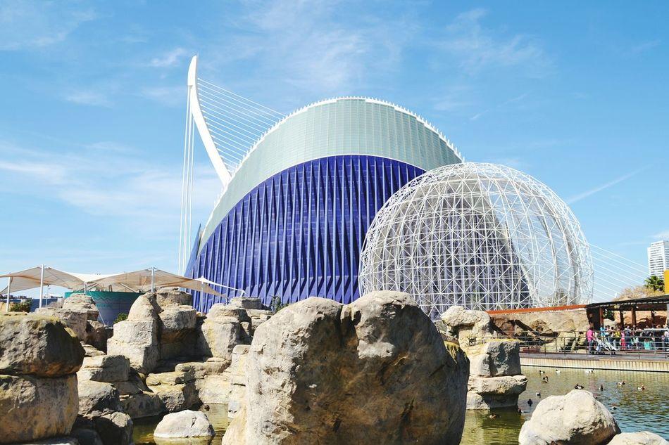 Oceanographic Valencia, Spain Modern Building Aquarium