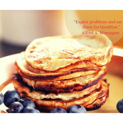 """Be a Boss . """"Expect Problems and eat them for breakfast."""" Leadership Quote"""