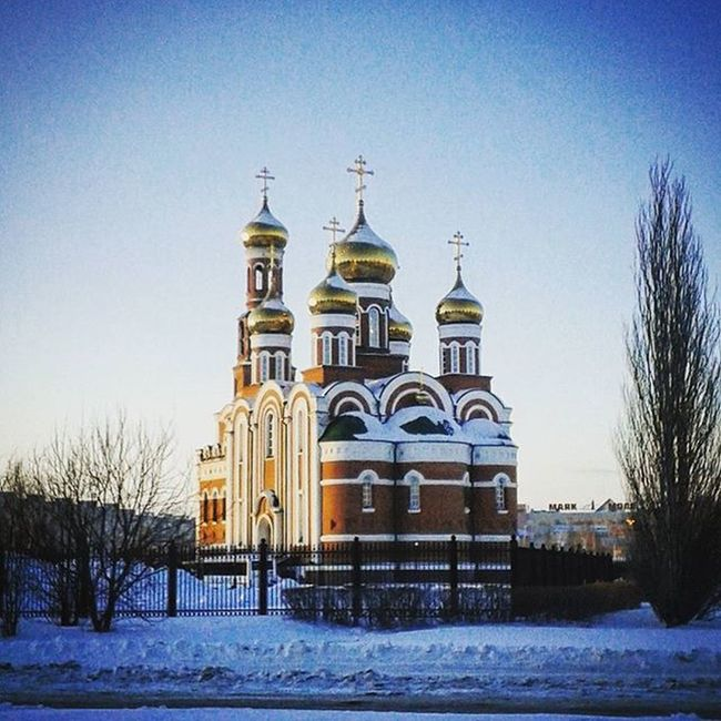 Omsk Siberia Church Cathedral Winter January омск сибирь храм собор зима январь