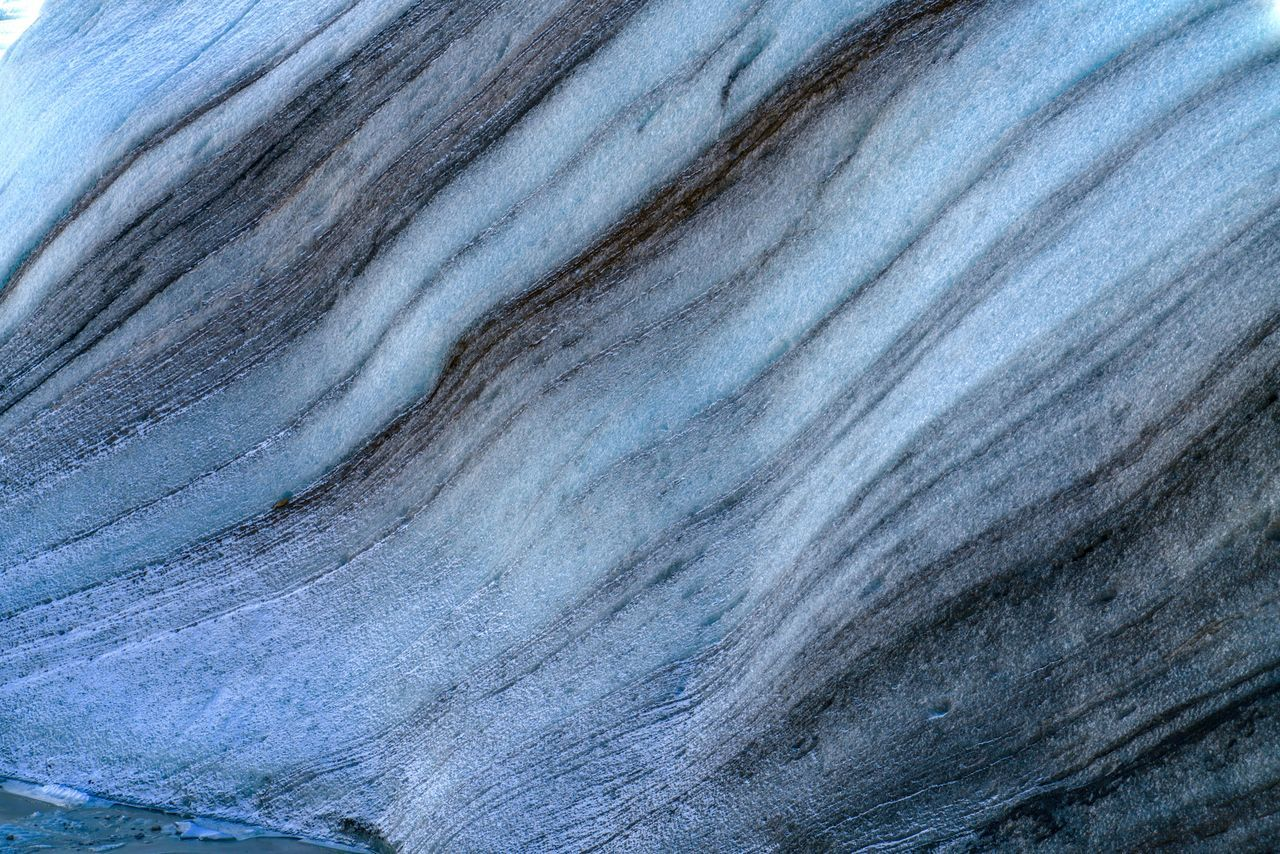 Layering. Backgrounds Textured  Full Frame Geology Abstract Abstract Backgrounds Pattern Nature Close-up Outdoors Beauty In Nature Iceland Memories Iceland_collection Iceland Iceland Trip Roadtrip Svínafellsjökull Glacier Ice Pattern Pieces Travel Travel Destinations Travel Photography Traveling Close Up