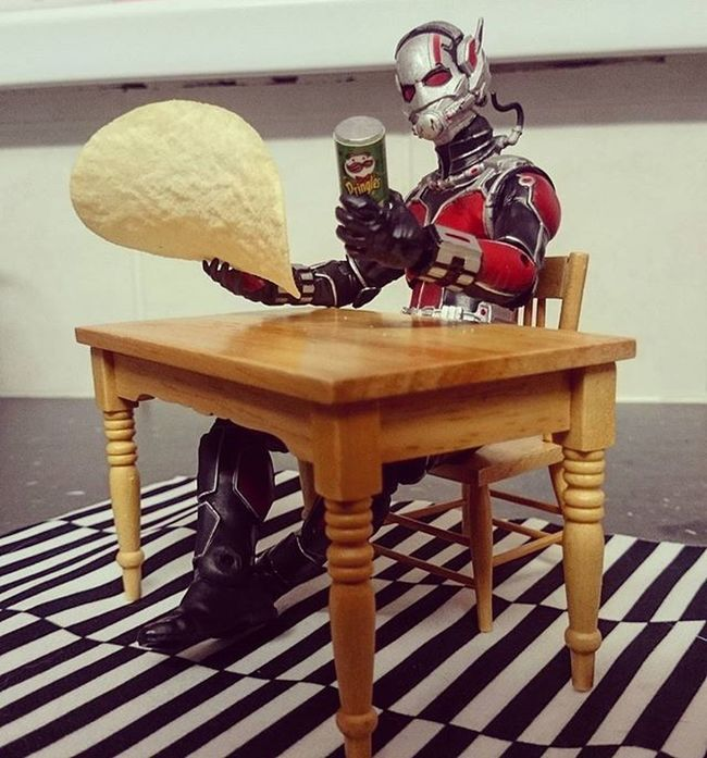 As Antman sits down for a snack he realises that changing size 25 times in one day may have broken physics! JANTMANuary day 17 Antman Marvel Marveltoys Toyptoyphotography Toyslagram Toyunion Toydiscovery Toptoyphotos Toycollectorsunited Toycrewbuddies Toysaremydrug Wheretoysdwell Justanothertoygroup Toygroup_alliance