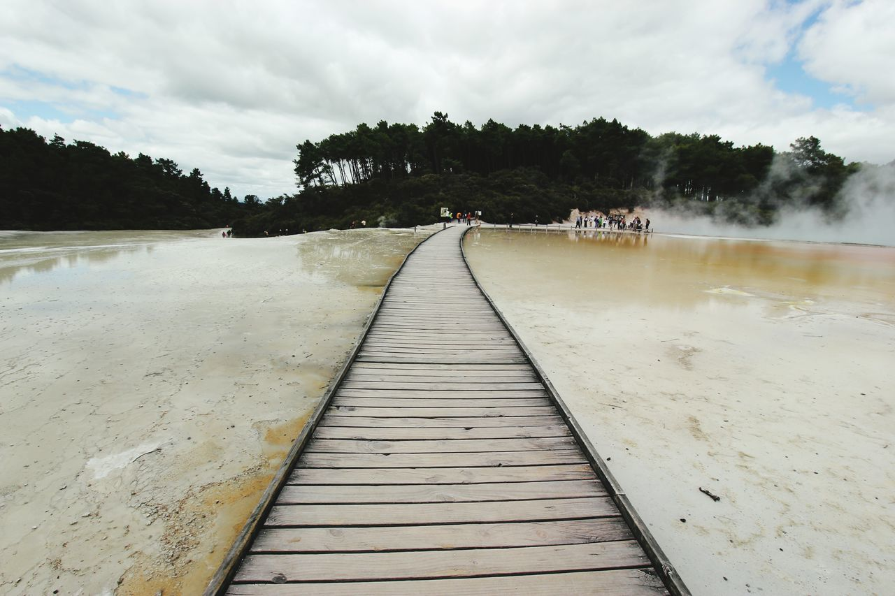 New Zealand Thermal Wonderland DECEMBER2015 Pathway Thermal Waters Nature Wooden Pathway