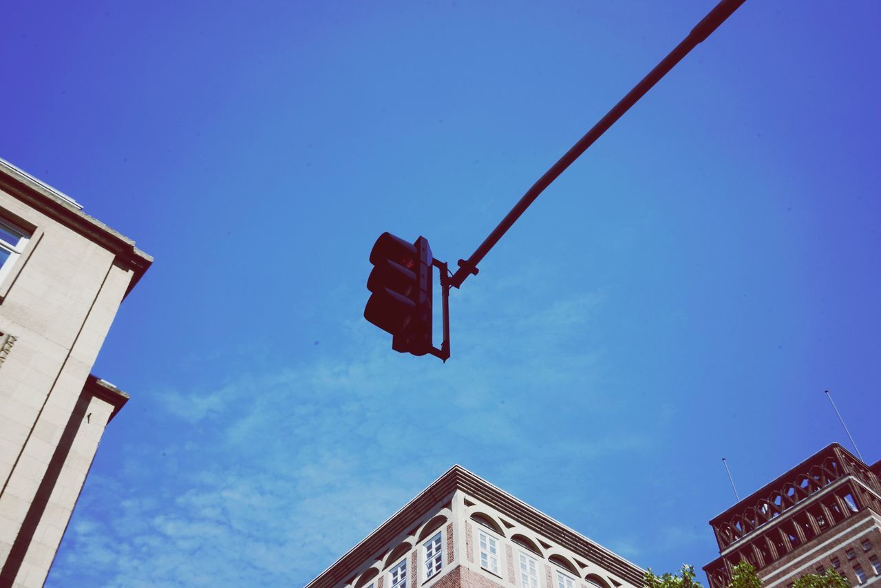 EyeEm Selects Low Angle View Built Structure Architecture Day No People Blue Building Exterior Outdoors Clear Sky Sky