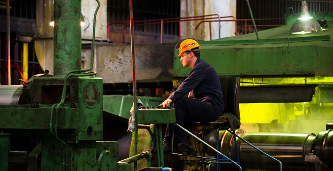 Russia, Yekaterinburg, Upper Iset plant, steel cold rolling mill Casual Clothing Focus On Foreground Leisure Activity Lifestyles Portrait Russia, Yekaterinburg, Upper Iset Plant, Steel Cold Rolling Mill Sitting Steel Cold Rolling Mill