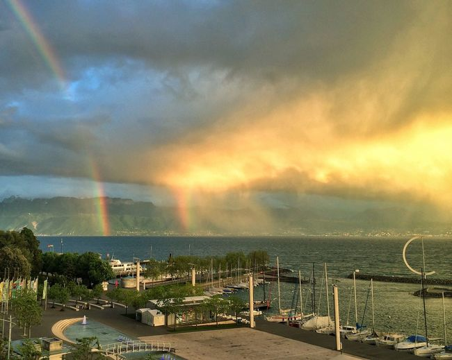 Double rainbow over Lac Leman, for Mother's Day ;) Happy Mother's Day! Rainbow EyeEm Nature Lover Mother Nature
