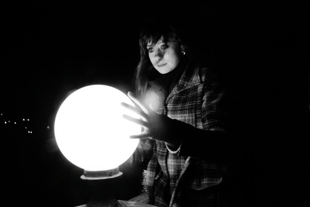 I See The Future Fortuneteller Blackandwhite Night Lights