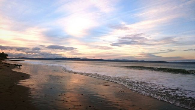Not a bad day for being down the beach. The calm before storm frank gets here. Taking Photos Enjoying Life Nairn Moray Scotland Clouds And Sky Being A Beach Bum Highlands