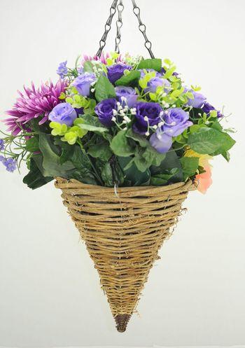 Basket Flower Basket Hanging Yellow
