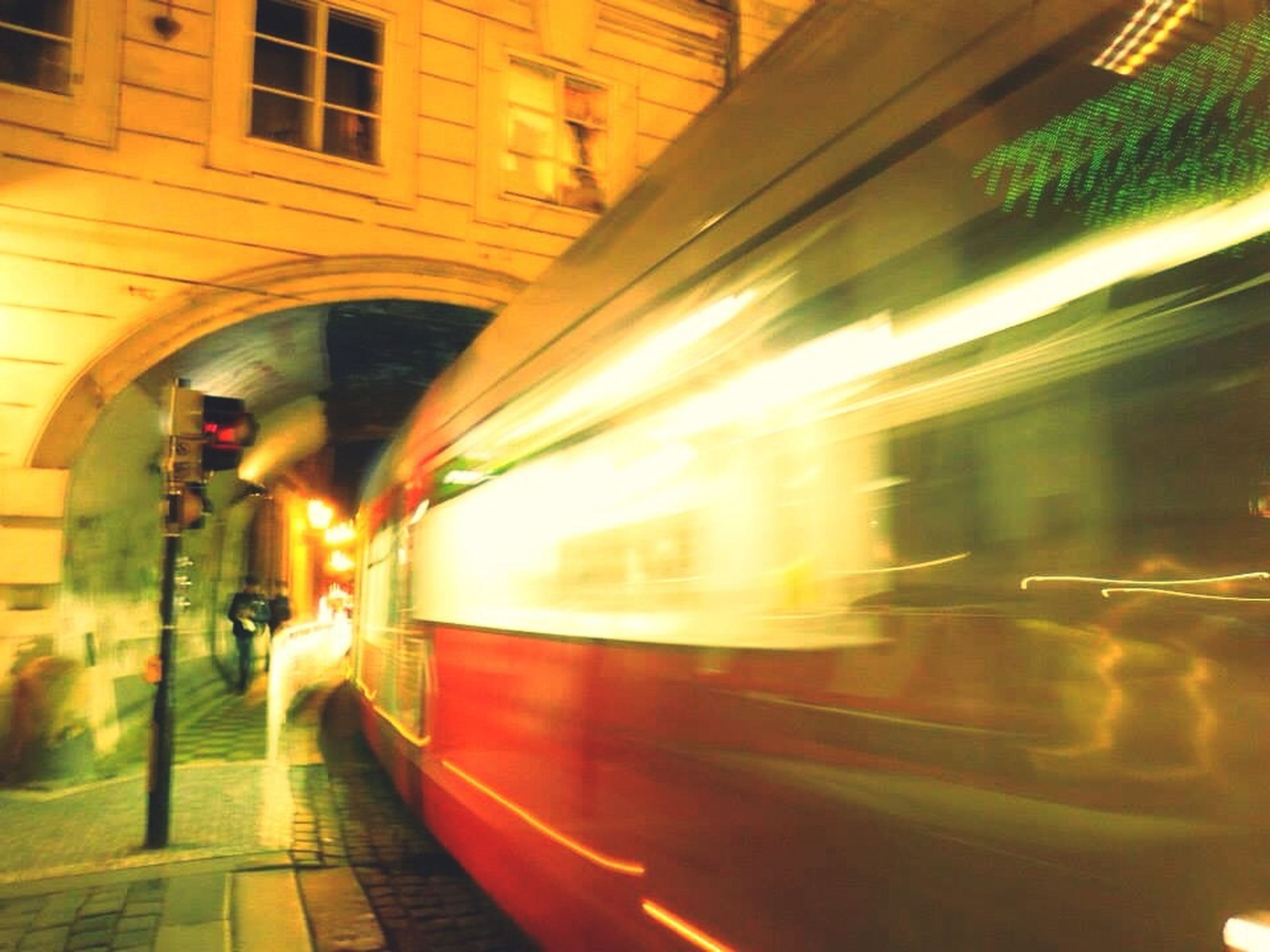 transportation, illuminated, built structure, architecture, mode of transport, public transportation, motion, indoors, blurred motion, night, speed, railroad track, arch, travel, on the move, long exposure, railroad station, tunnel, rail transportation, the way forward