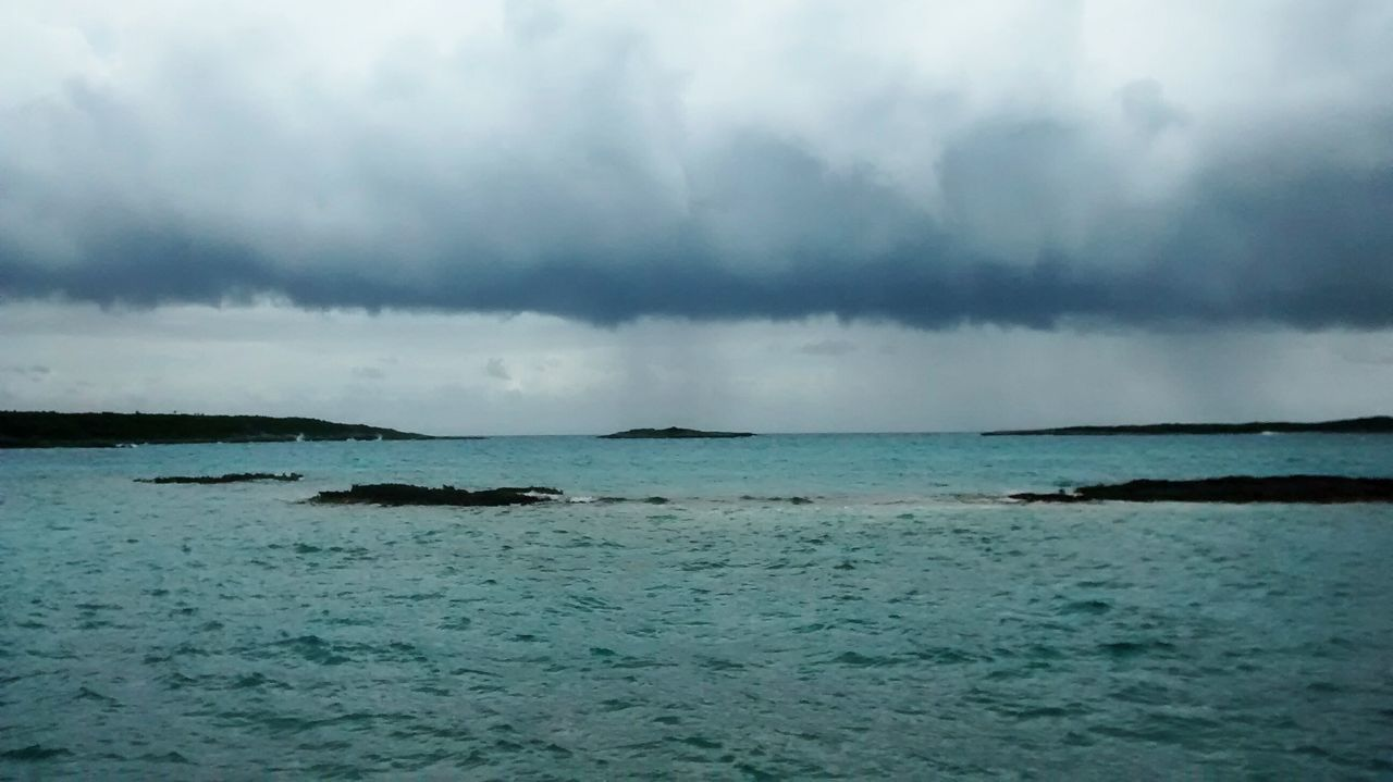 Beach Beauty In Nature Cloud - Sky Day Horizon Over Water Idyllic Nature No People Outdoors Rainwall Scenics Sea Sky Squall Storm Tranquil Scene Tranquility Water