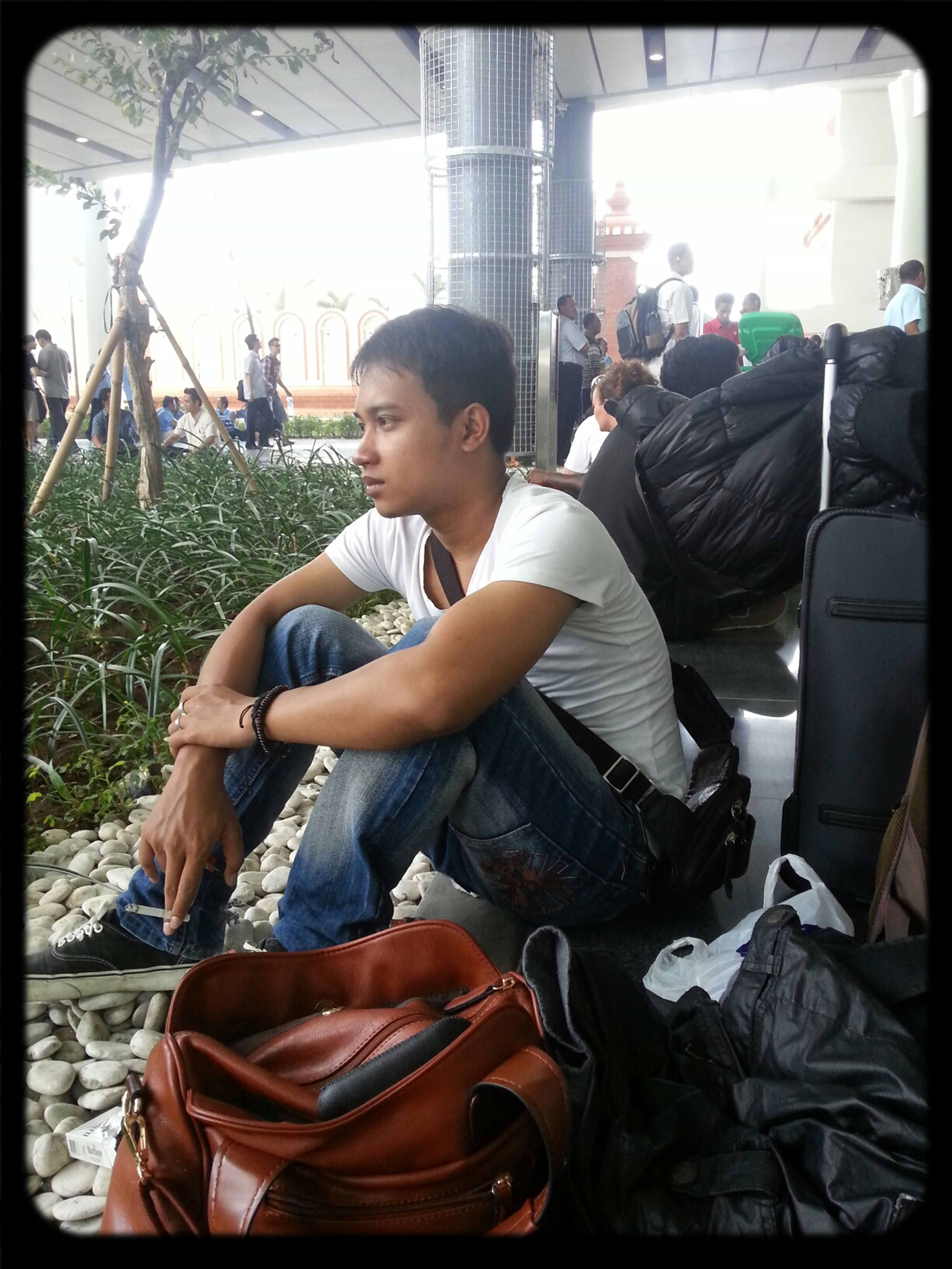 my bf looking all tired from our trip Bali Airport Bali Fiance Love