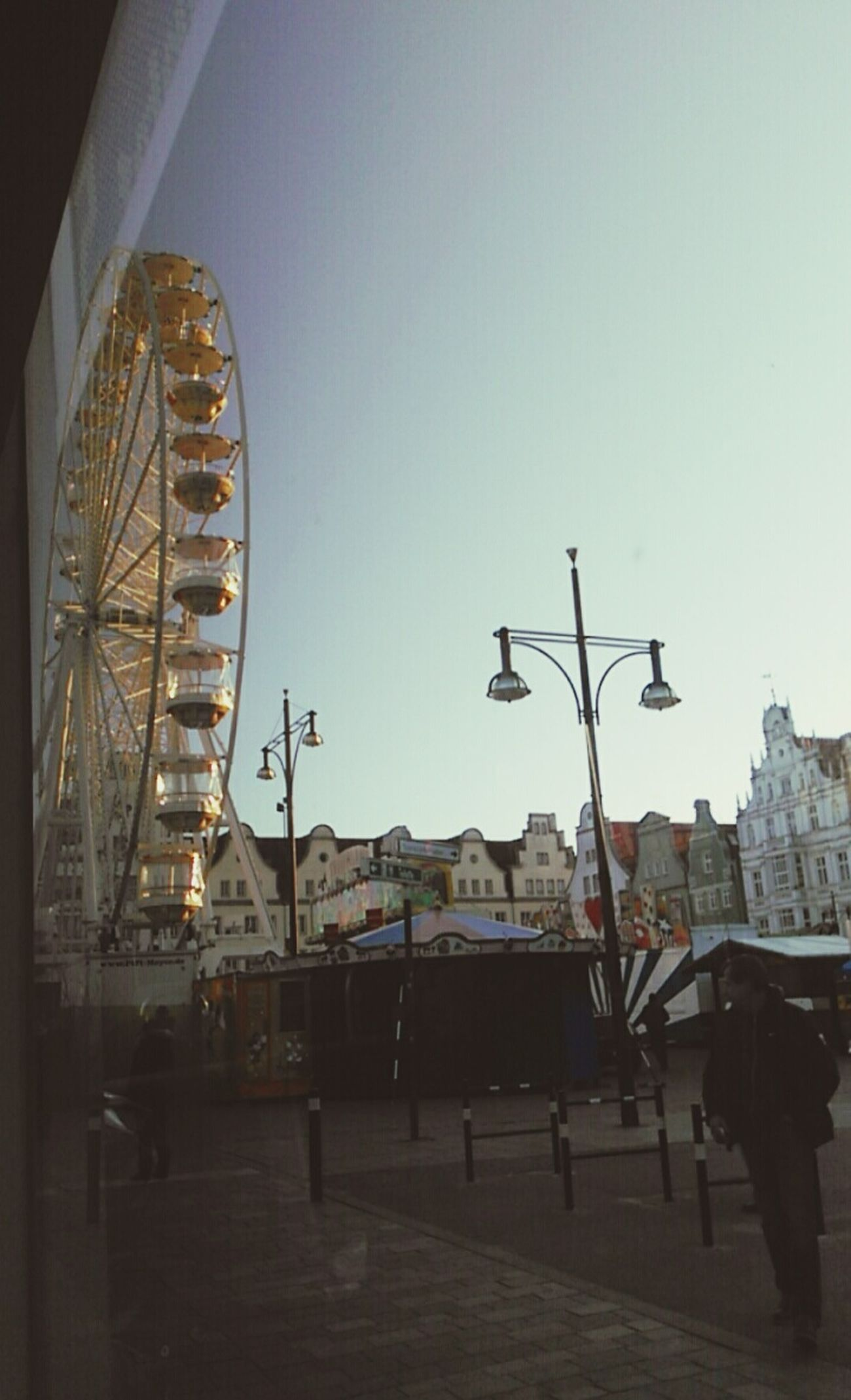 Big Wheel Ostern 2016🌱 Ostermarkt Easter 2016 Easter Market White Wheel Straßenbahnsicht Train View Neuer Markt Rostock Buildings Good Weather Blue Sky Springtime Rostock