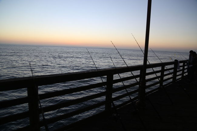California Early Morning Fishing Horizon Over Water Idyllic Jetty Ocean Outdoors Pier Sea Seascape Silhouette Six In A Row Sky Sun Rise Tranquil Scene Tranquility Water