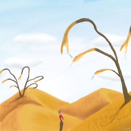 In the dry desert - my new digital painting, created with Infinite Painter for Android Surrealism Surrealist Art Surreal Digital Art Digital Painting Infinite Painter My Artwork My Art