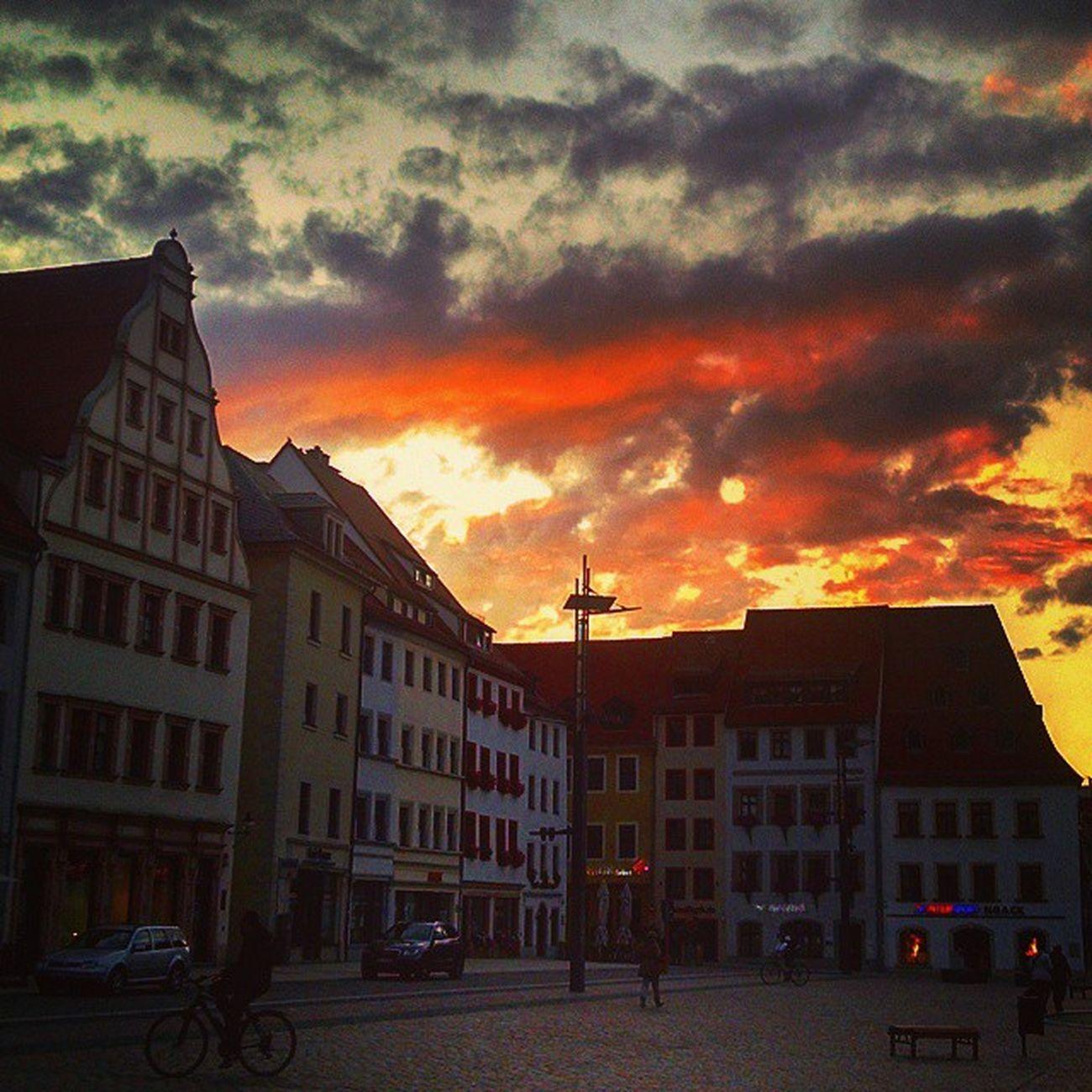 Sunset Freiberg Saxony Sachsen Ig_deutschland Ig_germany Ig_europe Insta_international Insta_europe Sunsetporn Sunlight Eastgermany