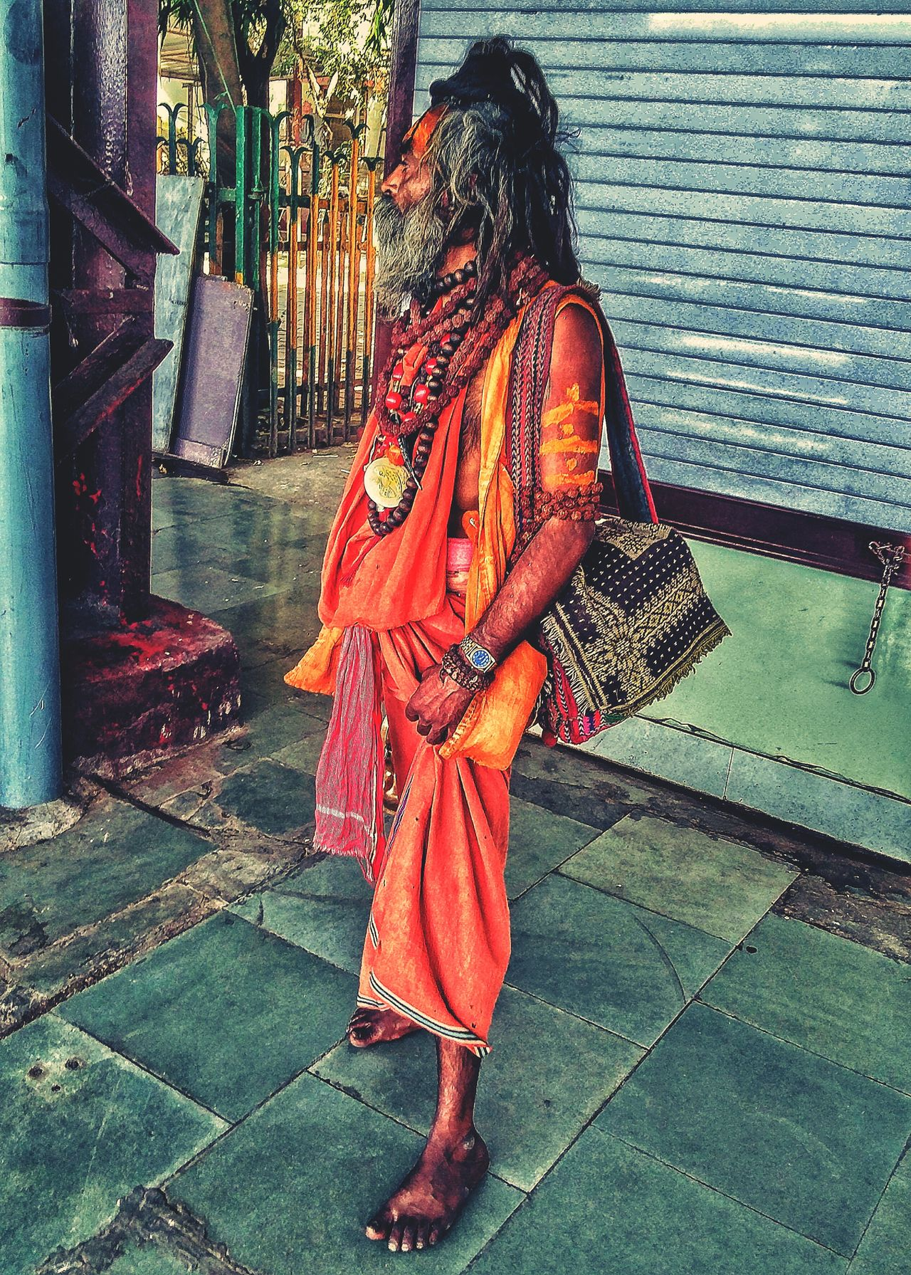 Traditional Clothing One Person Standing Religion Sage Shiva Devotee NOMAD Nomadic Life Traditional Culture Indian Sage Long Hair Man The Street Photographer - 2017 EyeEm Awards