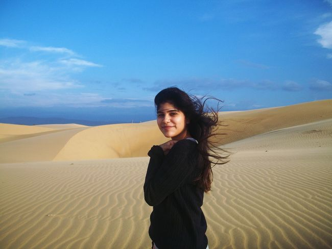 Hair Girl Medanos Sun
