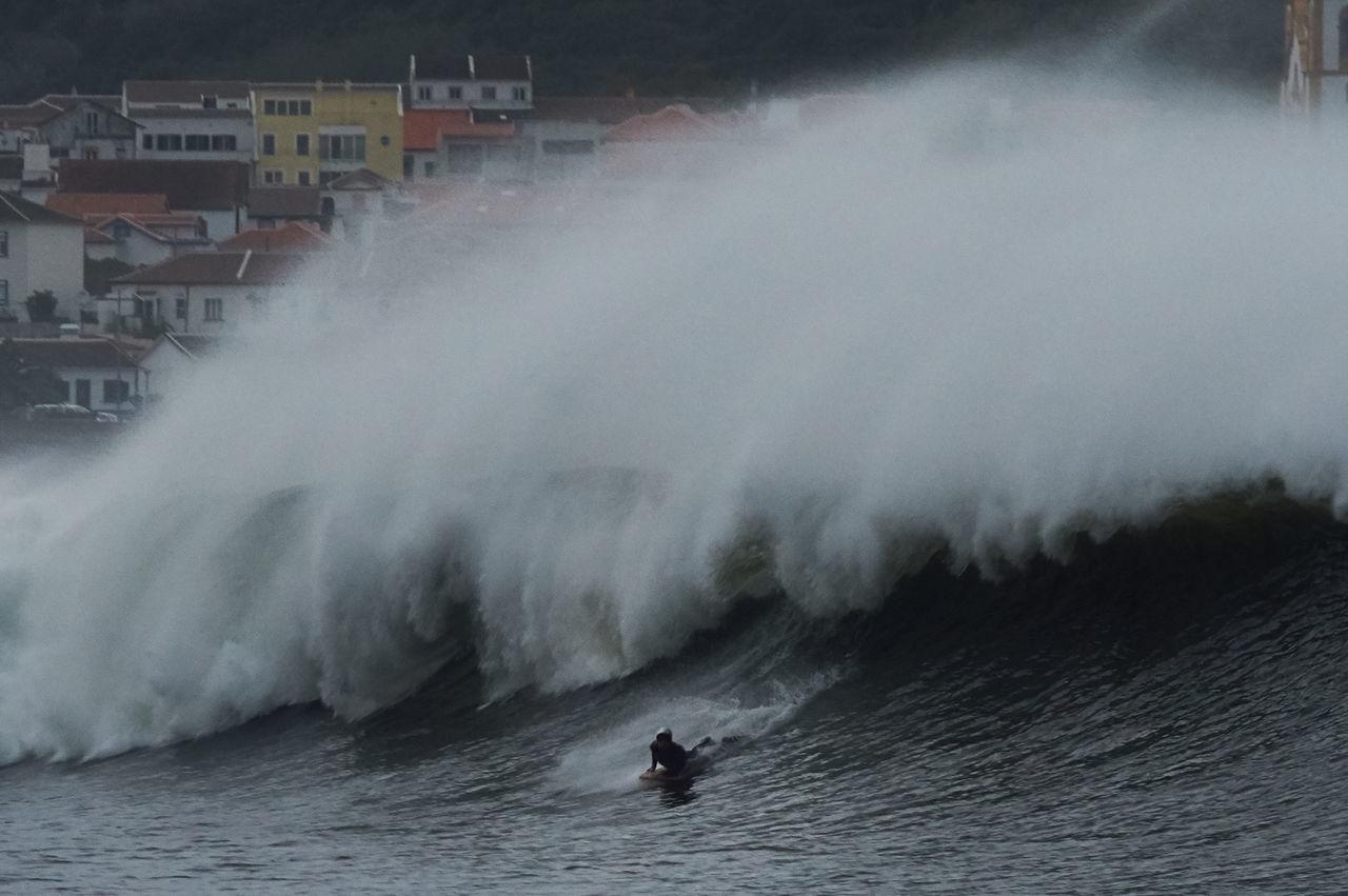 Azores, Terceira BIG Bodyboard City, Houses Nature Outdoors Power In Nature Praia Sea, Splashing Vitoria Waves, Ocean, Nature Weather