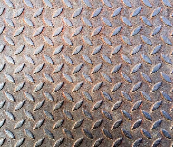 Full Frame Old Rusty One Bar Checker Plate Texture Industrial Backgrounds Checker Plate Close-up Day Diamond Plate Full Frame Metal No People Outdoors Pattern Steel Steel Plate Textured