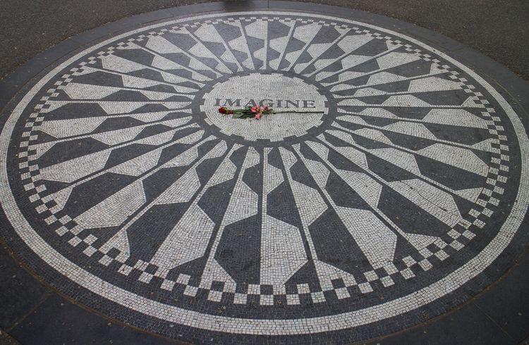 Central Park Design Imagine John Lennon Memorial New York City Respect Rosé