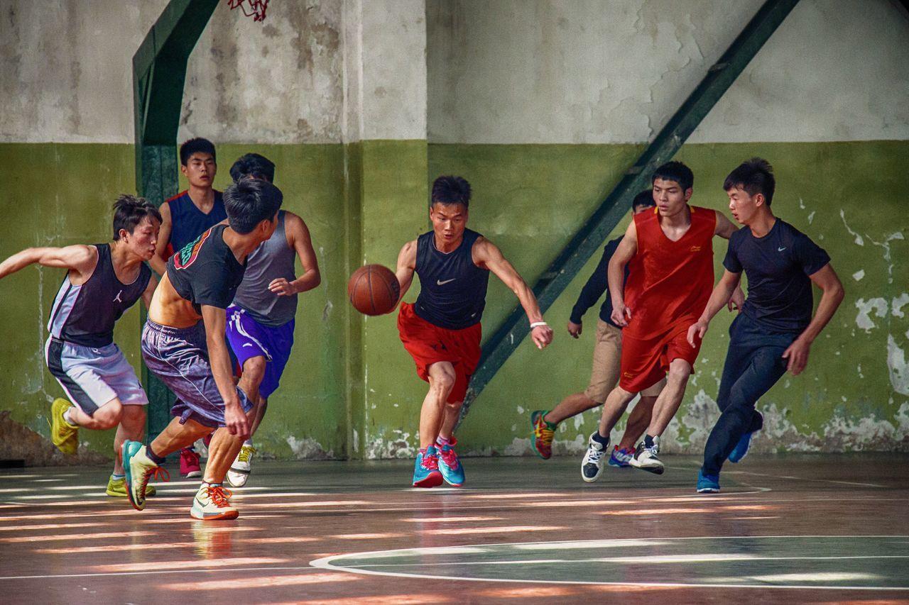 体育学院篮球训练 Sport Basketball Training Oriental People Sports Students