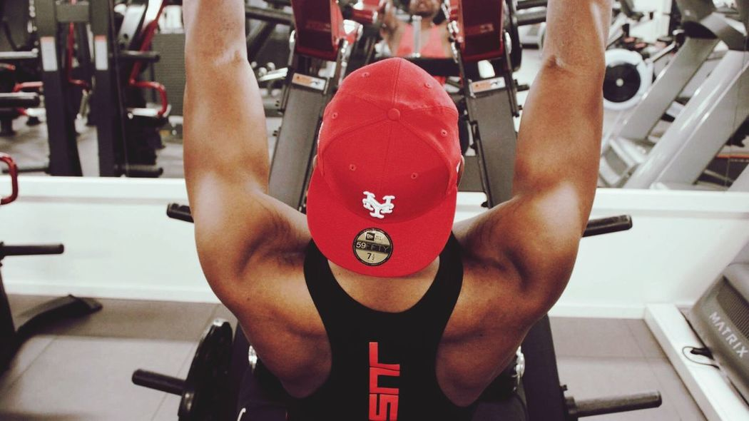 Red One Person Real People Indoors  Close-up Sport Human Body Part Person Day Gym Biceps Triceps Working Out
