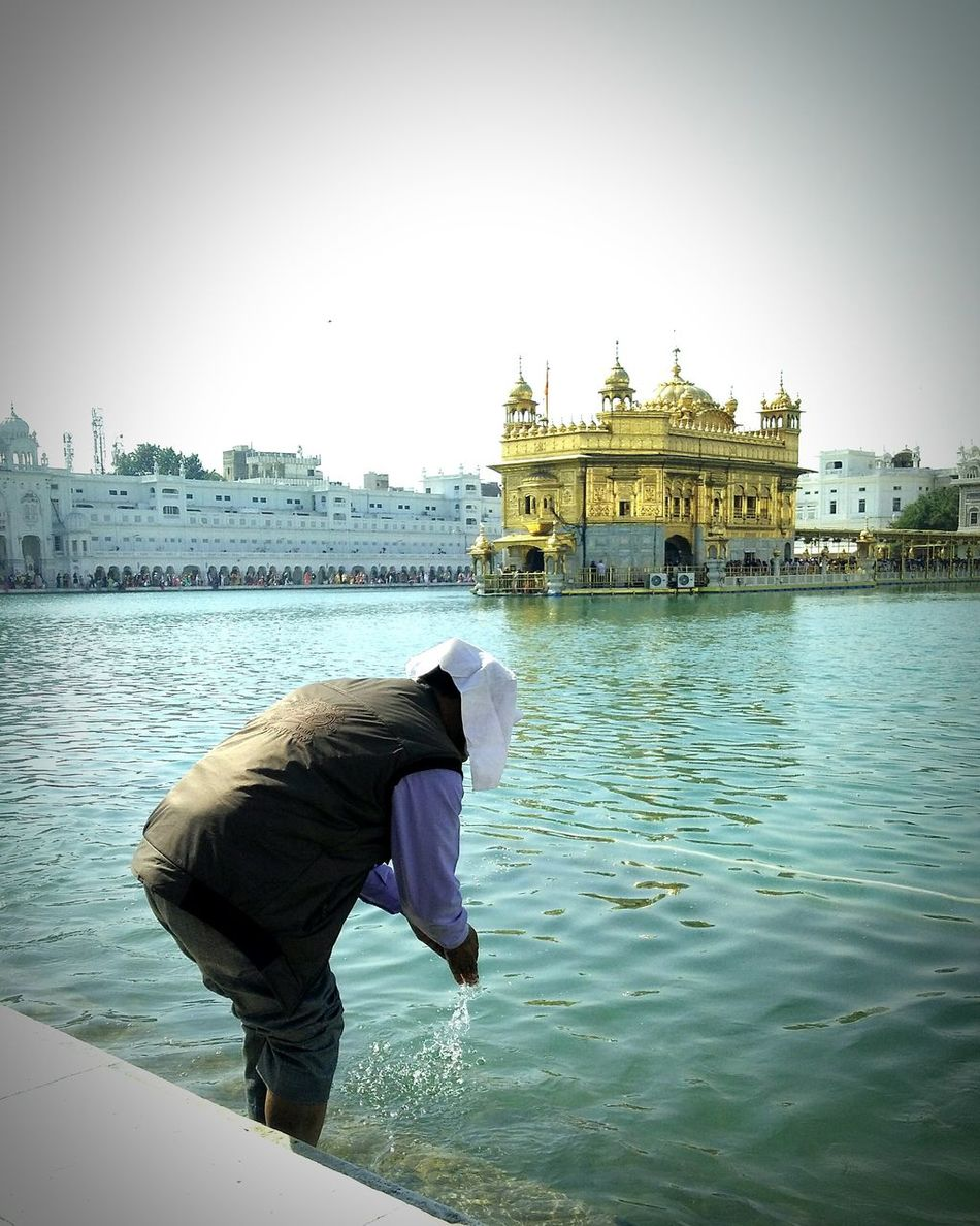 Satnamshriwaheguru Goldentempleamritsar Golden Temple Sky One Person Lake 🎈👻 The Secret Spaces Long Goodbye