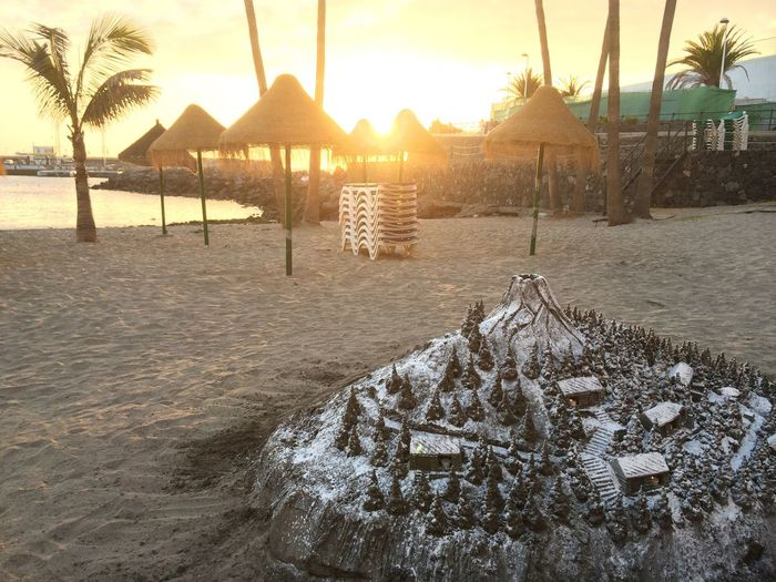 Sandcastles and Sunset