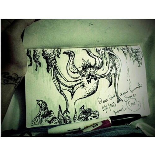 Simple of My sketch imagination after visiting deer cave with 3million of bats. Bats Cave Sketch Blackandwhute travelling travel