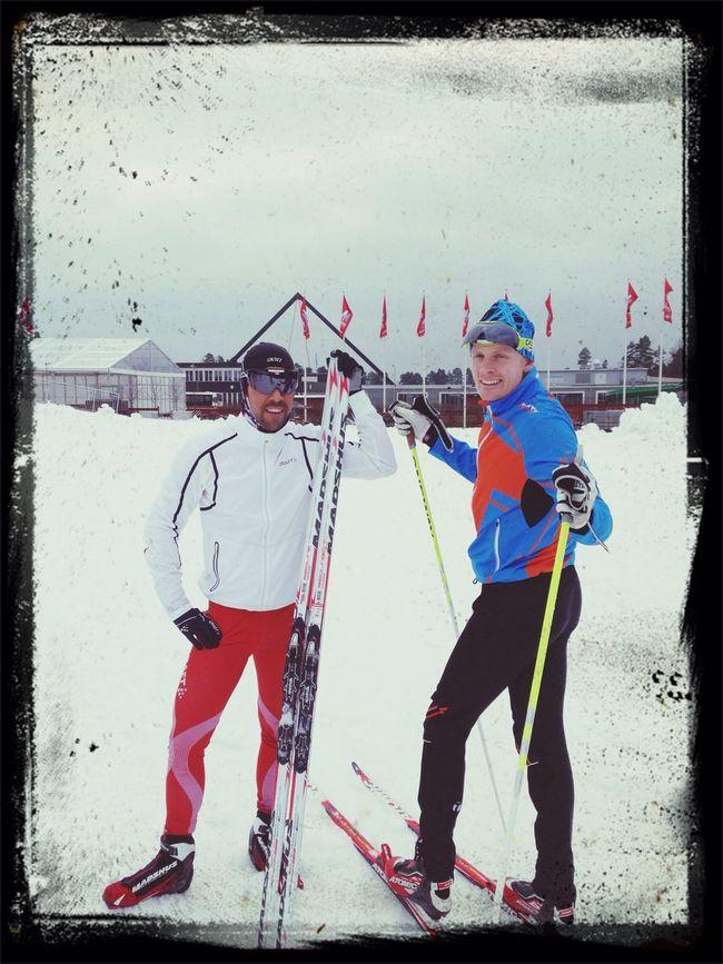 Jag och Suther är väl så fina! LugnetLängdskidor Vm2015 Falun