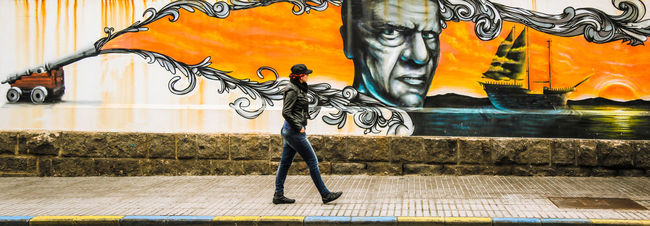 Art Art And Craft ArtWork Battle Of The Cities City Creativity Flowing Graffiti Multi Colored Mural People And Places Sidewalk Splashing Street Streetphotography Walking Wall Art Woman Women Who ınspire You