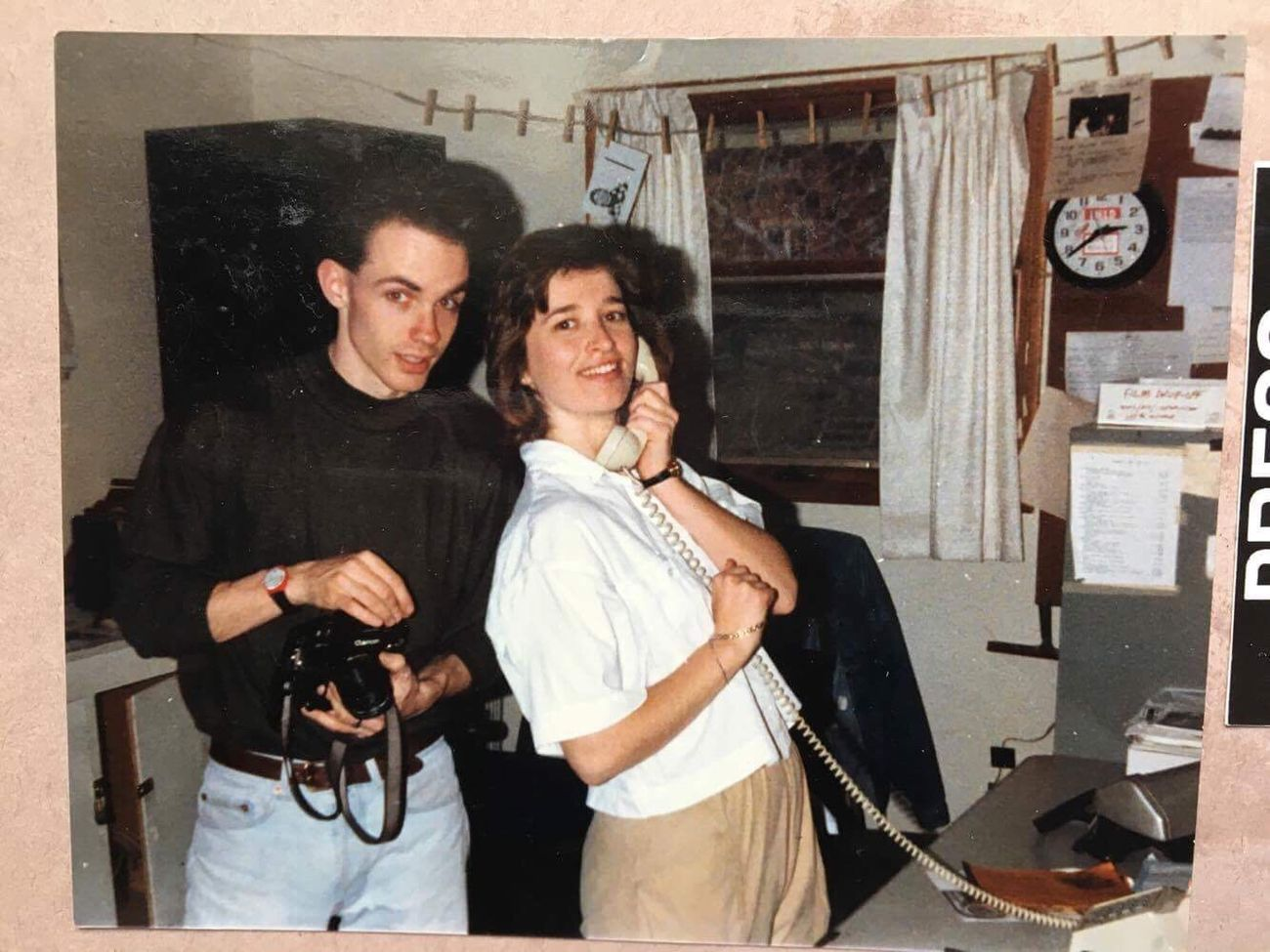 #Tbt circa 1989. My colleague (and possibly boss at the time?) Bev Horne and I hard at work in the photo department at the Northern Star campus newspaper in DeKalb, IL. One of the best jobs I ever had. Two People Adults Only Togetherness Archival Men Young Adult Adult Young Women People Day Shootermag Photojournalism News Newspaper Reportage Photography Film Student