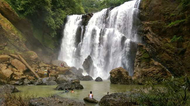People And Places Waterfall Incredible India Beauty Mesmerizing Breathtaking Adventure Adrenaline Junkie Forest Greenery Sathodi Waterfall, Karnataka, India