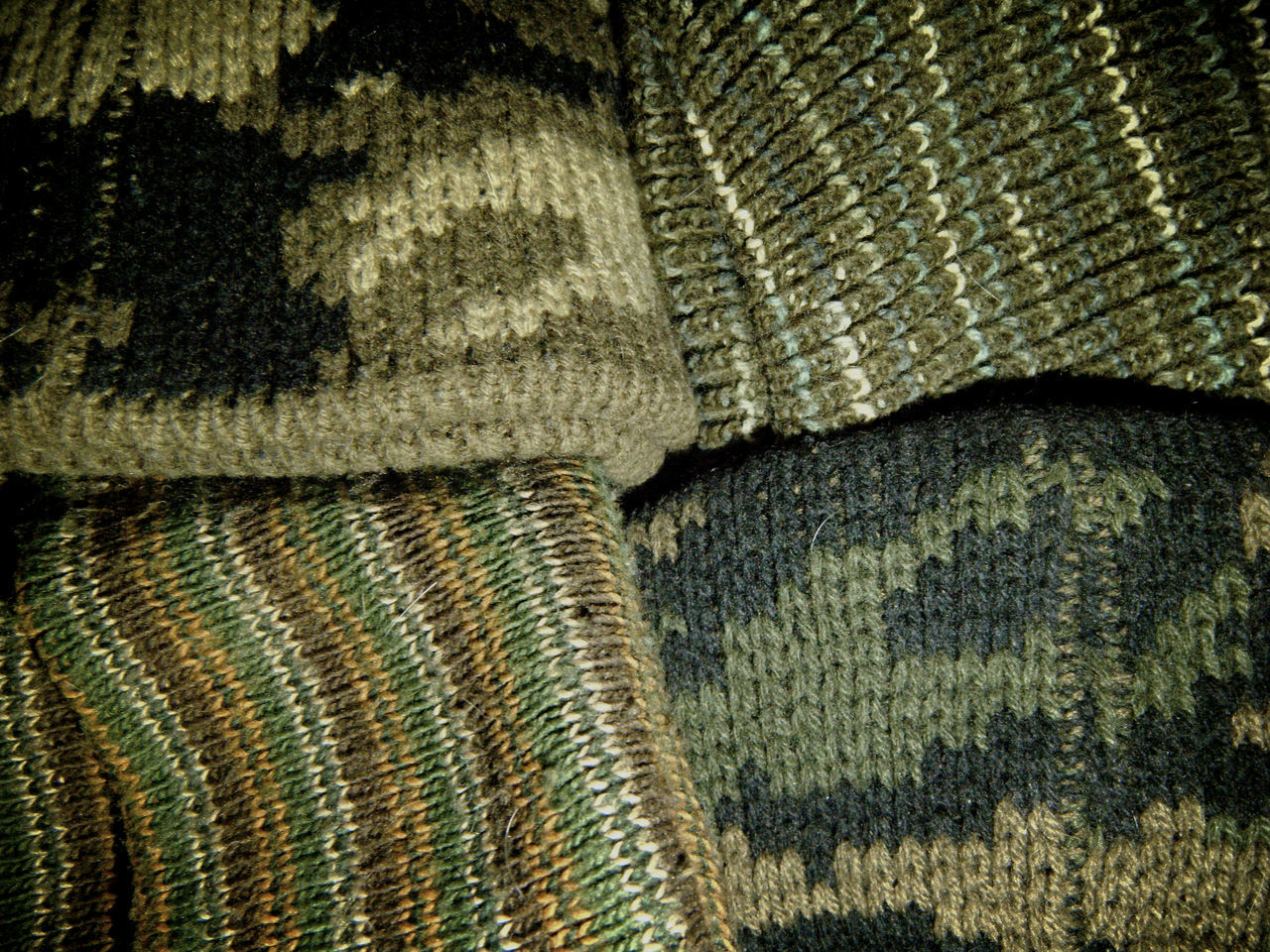 Pattern Pieces Camouflage Camo Knit Weave Drab Beanie Whatever Style Military Surplus Fashion Blending In