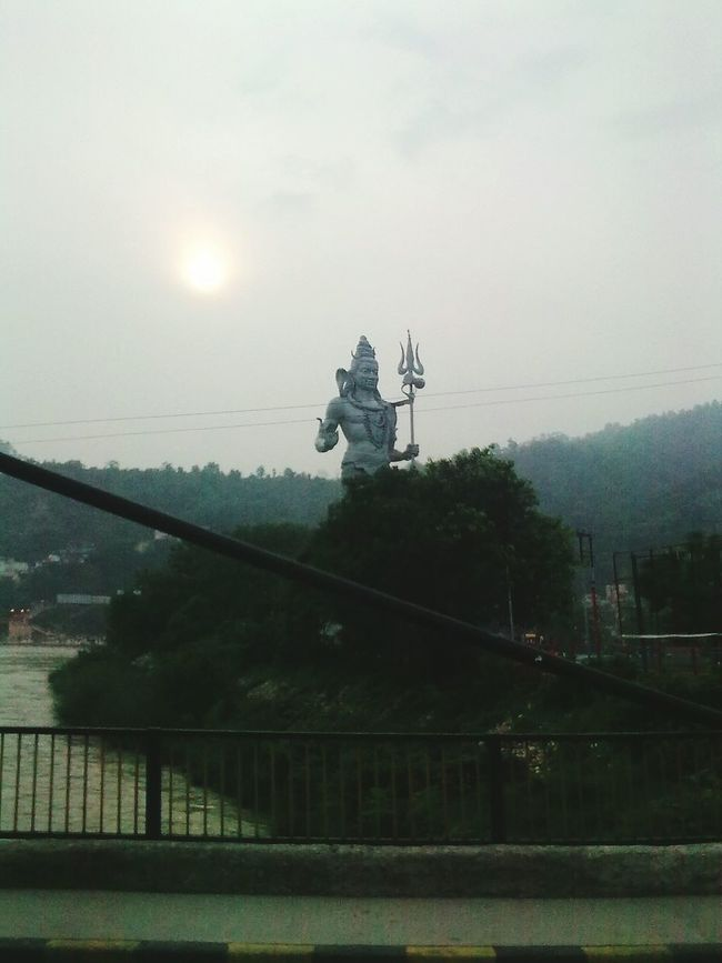 Haridwar Pic Lord Shiva Lord Shiva On Earth Natural Beauty God Tranquility Tranquil Scene Eyem Best Shots EyeEm Gallery EyeEm Best Shots - Nature Beautiful God's Beauty India Indian Culture  Eye Em Team Cool Photography Phone Photography Sky Blue Blue Sky