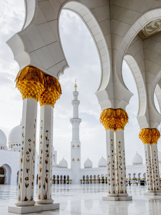 Sheikh Zayed Grand Mosque, Abu Dhabi Abu Dhabi Abu Dhabi Grand Mosque Arch Architecture Built Structure Cloud - Sky Day Grand Mosque Grand Mosque Abu Dhabi Islam Islamic Islamic Architecture Largest Mosque UAE Low Angle View Mosque No People Outdoors Place Of Worship Religion Sheikh Zayed Bin Sultan Al Nahyan Sheikh Zayed Mosque Sky SZGMC Travel Destinations United Arab Emirates First Eyeem Photo