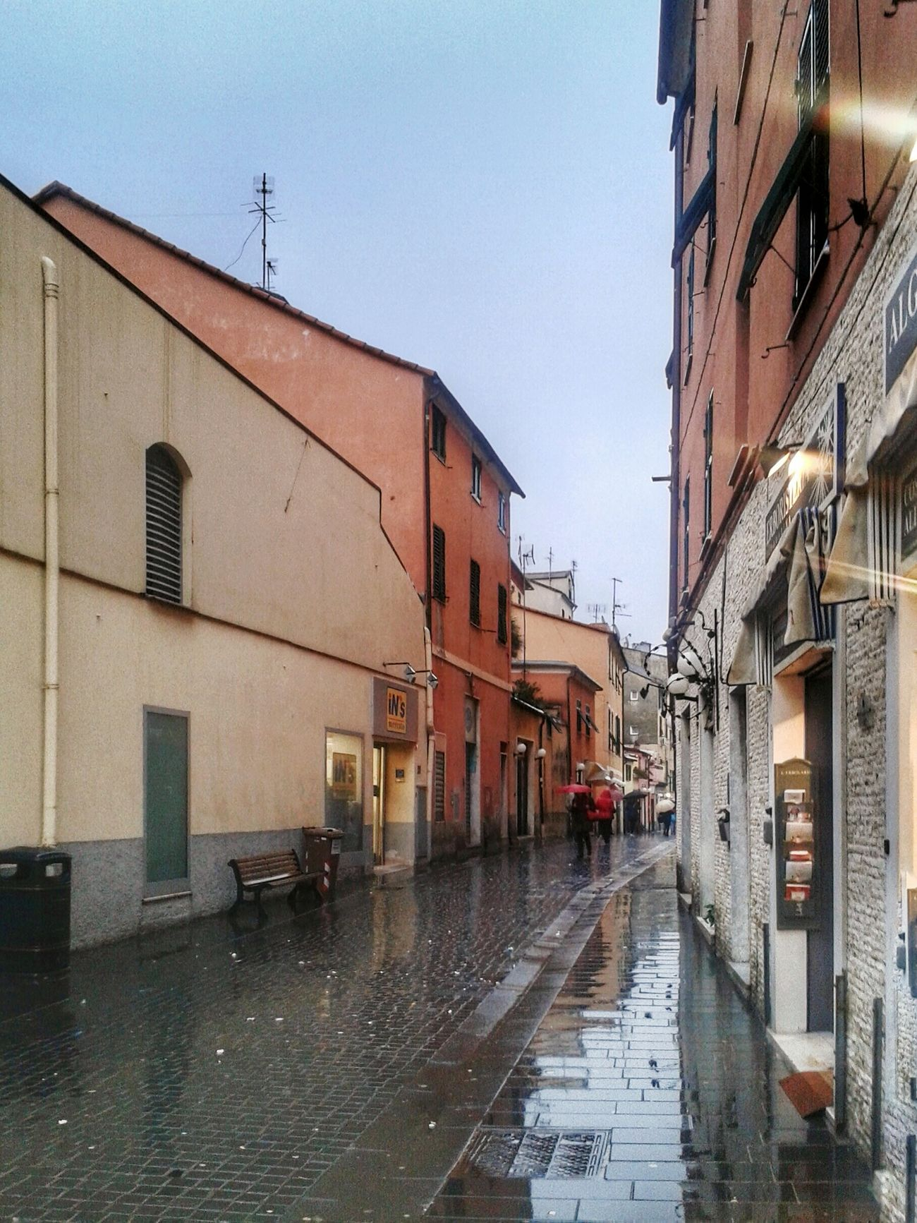 """Giornata uggiosa"". Rainy Days Rain After The Rain Street Photography Street / Pedestrian Street with no Pedestrians / No People Reflection / Smartphone Photography Mobile Photography with S3mini and Camerazoomfx in HDR shooting mode ( Multiple Exposures) / Eyeemfilter. In Genova-Pra' Italia"